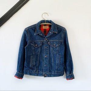 Vintage Levi's Buffalo Check Denim Trucker Jacket